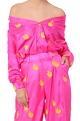 Masaba Hot pink cactus print trousers