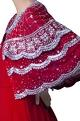 Zoraya Red embroidered bolero jacket with ljumpsuit