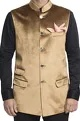 Gold jacket with flap pockets