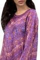 Purple & orange batik kurta