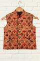 Minikin Orange printed jacket & kurta