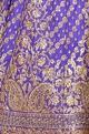 Royal blue embroidered lehenga set