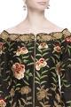 Black chanderi silk embroidered jacket