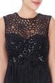 Black fringe style vintage gown
