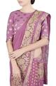 Latha PuttanaPink crushed applique work sari & blouse