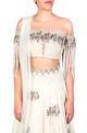 Ridhima Bhasin Off-white bead and sequin lehenga