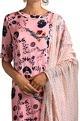 Poshpride Pink tassel kurta & palazzos