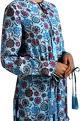 PoshprideBlue floral tassel kurta