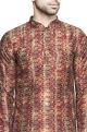 Multicolored moijak printed kurta