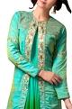 Pallavi JaipurBlue & green sequin embellished jacket set
