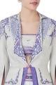 Beige short jacket & skirt set