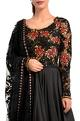 Black embellished anarkali & dupatta