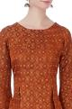 Orange banarasi brocade top & pants