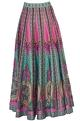 Siddhartha Bansal Multicolored striped dupion silk maxi skirt