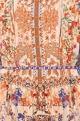 Multi-colored viscose crepe printed maxi dress