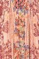 Multi-colored viscose crepe printed kaftan dress