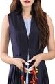 Rishi and SoujitNavy blue asymmetric jacket with doctor's blue dress