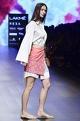 Nishka Lulla Coral twill abla work skirt