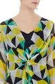 Yellow georgette graphic print cape