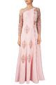 Reeti Arneja Pink organza pearl embellished concept anarkali gown with stole