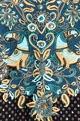 Black & blue rayon crepe pant set
