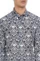 Black & white skeleton printed pure cotton long sleeve shirt