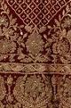 Burgundy-red silk & velvet embroidered bridal lehenga set
