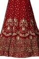 Burgundy-red zardozi sequin embroidered lehenga set