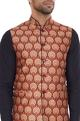 Multi-printed cotton nehru jacket