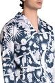 Shivan and Narresh - Men White printed crepe izu juno pyjama with shirt