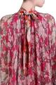Nikasha Carrot orange, pink chiffon bibi jaal printed assymetrical midi dress