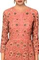 Garo by Priyangsu & Sweta Peach butterfly net machine & hand embroidered gown