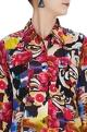 Multicolored long sleeve shirt in psychedelic print
