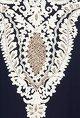 PrishaNavy blue motif applique kura set