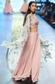 Anushree Reddy Pink chiffon cape set