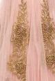 Blush pink rose embroidered lehenga set