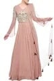 Bhumika SharmaBlush pink & pearl embroidered anarkali set