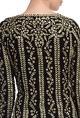 Black & gold floral embroidered sharara set