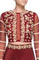 Wine crepe silk embroidered lehenga