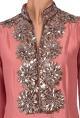 Manish MalhotraDusky pink embellished tunic with palazzos