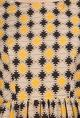 SOUP by Sougat PaulBeige, yellow & black aztec printed dress