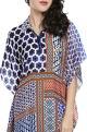 Falguni Shane PeacockMulti-colored patchwork printed kaftan dress