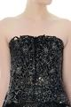 Black & gold cutwork tube top & asymmetric skirt