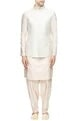 Bubber Couture - MenOff-white embroidered bandhi jacket