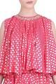 Nikasha Foil printed flared blouse & lehenga