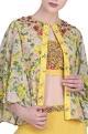 Nikasha Crepe silk jaal printed & embroidered jacket set