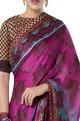 ROCKY STAR Embroidered border sari with zippered blouse.