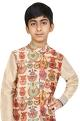 Chiquitita kids couture by Payal Bahl Printed nehru jacket with kurta and churidar