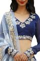 Ranian Embroidered blouse and dupatta with border detail lehenga