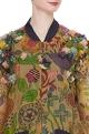 Hand painted naturally dyed bomber jacket with dress